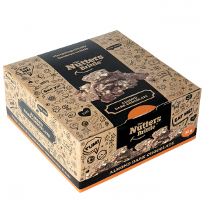 The Nutters Brittle - Handcrafted Almond and Dark Chocolate Nut Brittle 90g Gift Box - Available Nationwide