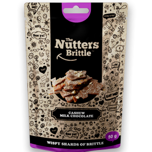The Nutters Brittle - Handcrafted Cashew and Milk Chocolate Nut Brittle 50g - Available at Clicks and Dis-chem stores nationwide