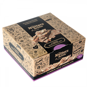 The Nutters Brittle - Handcrafted Cashew and Milk Chocolate Nut Brittle 90g Gift Box - Available Nationwide